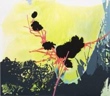 "Microflora 14"" x 16"" acrylic on panel2011"