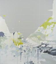 Planar Dissolve 2016 Acrylic on panel 43 × 38 in